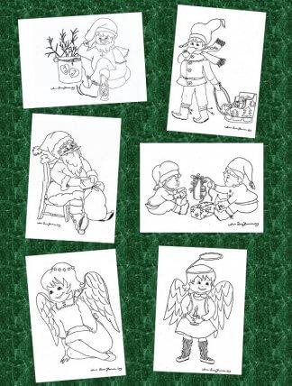 väritettävät joulukortit