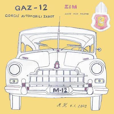 vanha auto taulu GAZ-12