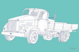 autotaulu: vanha kuorma-auto