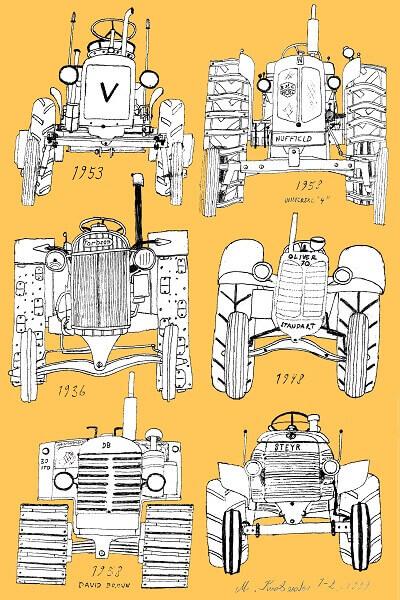 vanhat traktorit