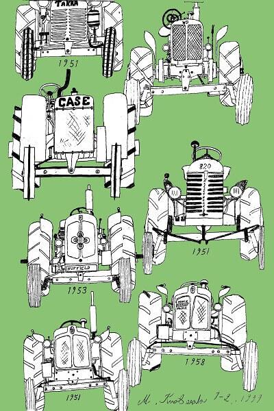 vanhoja traktoreita